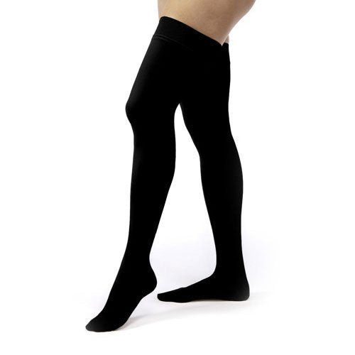 Jobst Relief 15-20mmHg Black Thigh High Closed Toe Compression Stockings