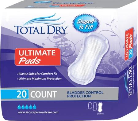 TOTAL DRY Ultimate Pads Extra Bladder Control Protection
