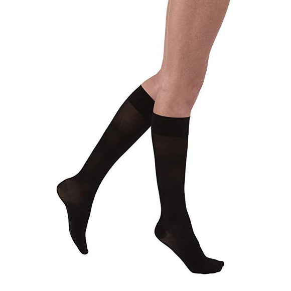 Jobst UltraSheer 15-20mmHg Black Knee High Closed Toe