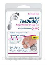 PediFix Visco-Gel Toe Buddy One Size Fits Most 1 Piece PediFix Visco-Gel Toe Buddy One Size Fits Most 1 Piece Toe Separators PediFix - Americare Medical Supply