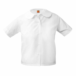 "Short Sleeve Girls ""Peter Pan"" Blouse (Required)"