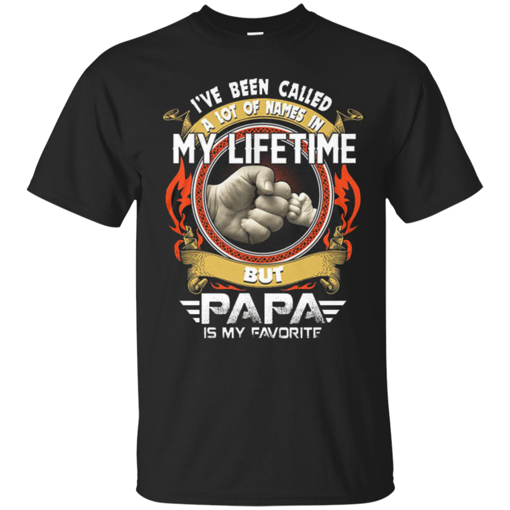 9fba381fffaa Papa is My Favorite Name Gift for Dads Hanes Premium Tagless T-Shirt Unisex