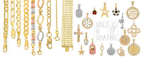 goldnchains - 14K solid gold chains , bracelets , charms and eairings
