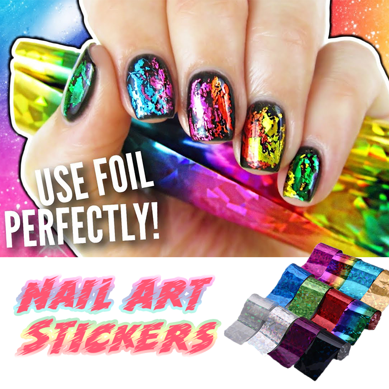 Nail Art Stickers (Set of 10)