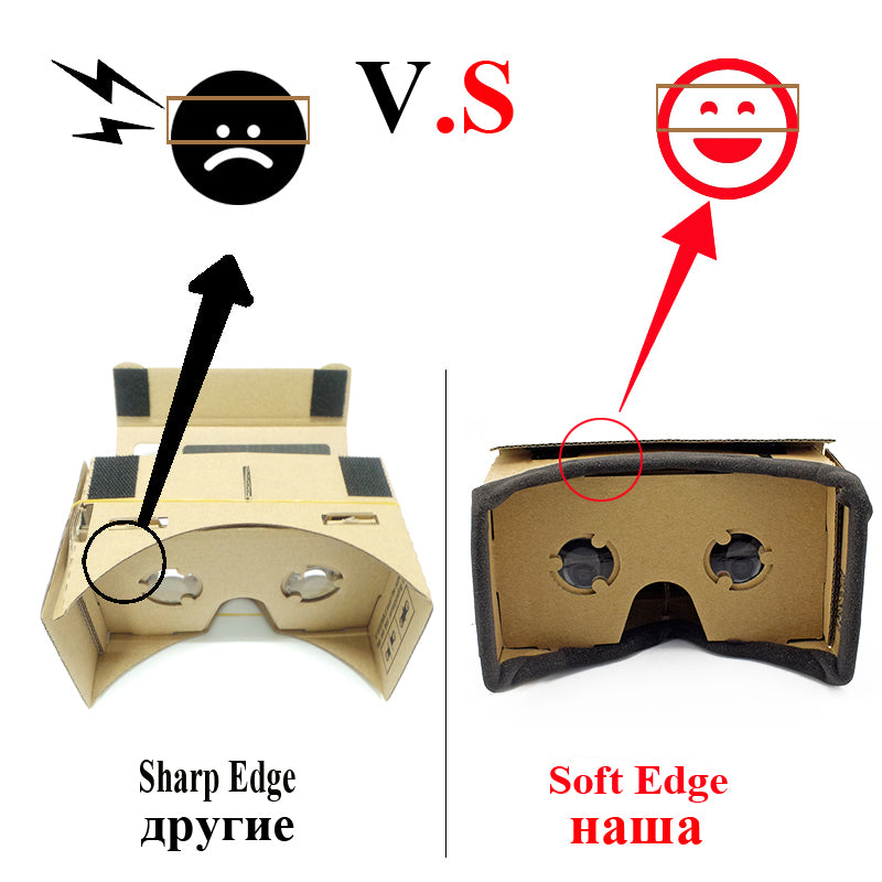 3D Virtual Reality Cardboard Glasses