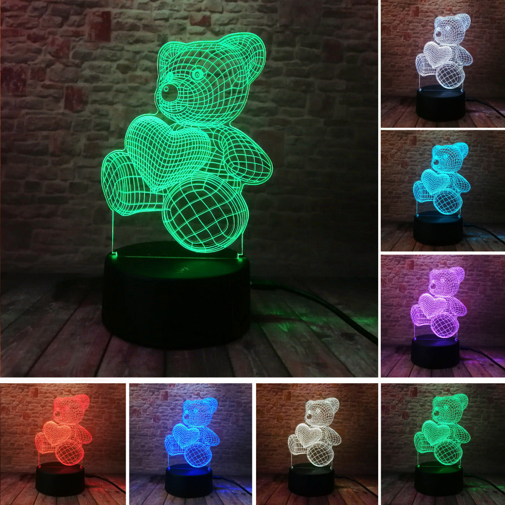3D Bear Illusion Lamp