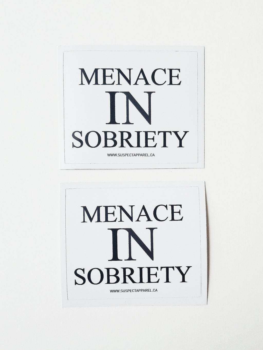 MENACE IN SOBRIETY