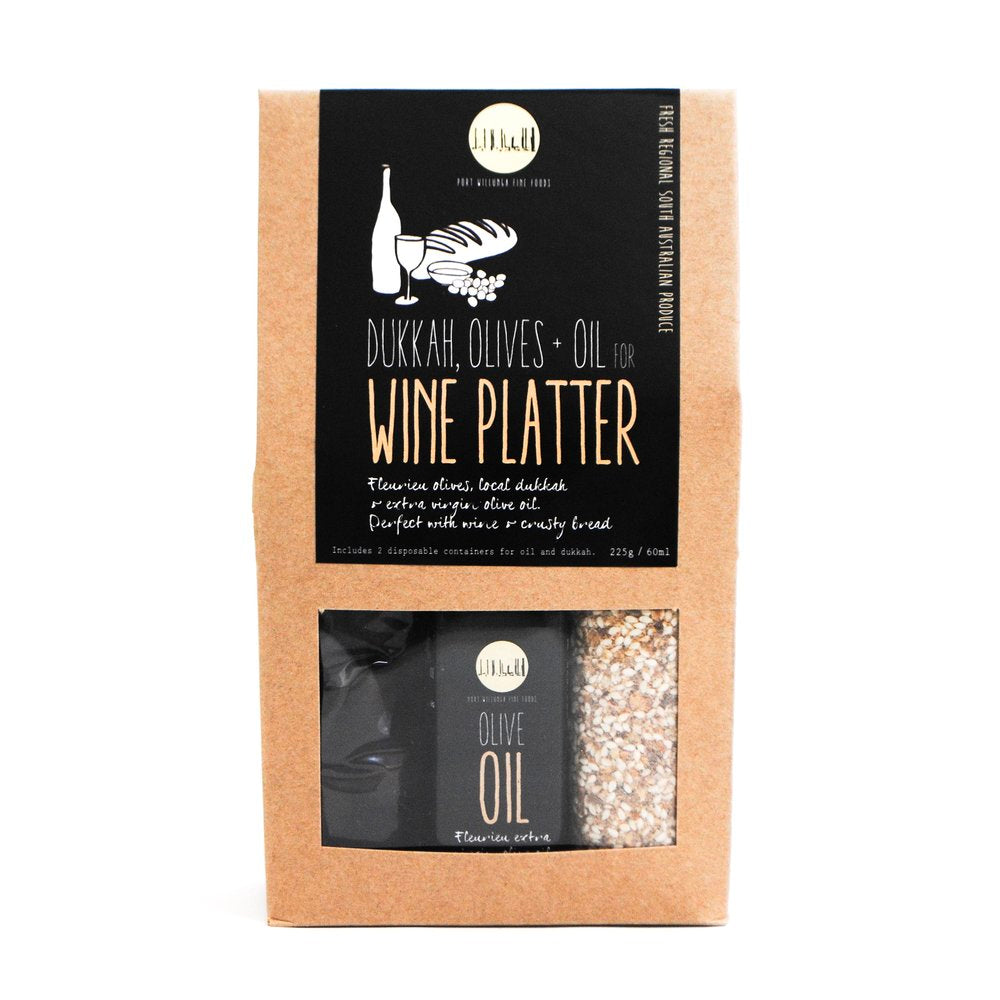 Load image into Gallery viewer, Box wine platter - dukkah, olives and oil