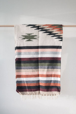 Sol Diamond - Handwoven Mexican Blanket