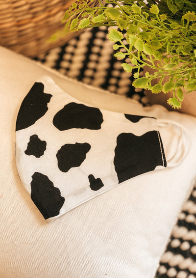 Adult Face Mask (Black/White Spots)