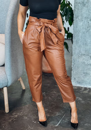Commando Faux Leather Paperbag Pant