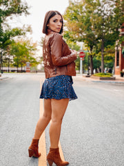 Star Spangled Leather Jacket (Cognac)