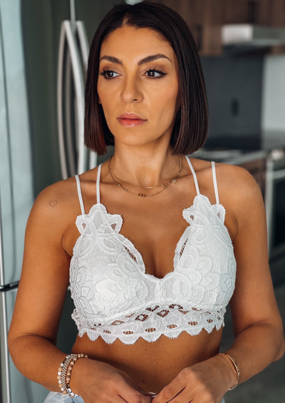 Lace Bralette (White)