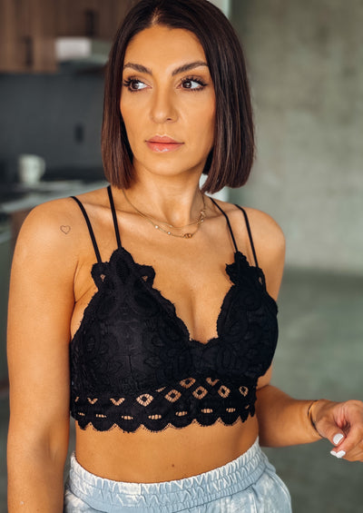 Lace Bralette (Black)
