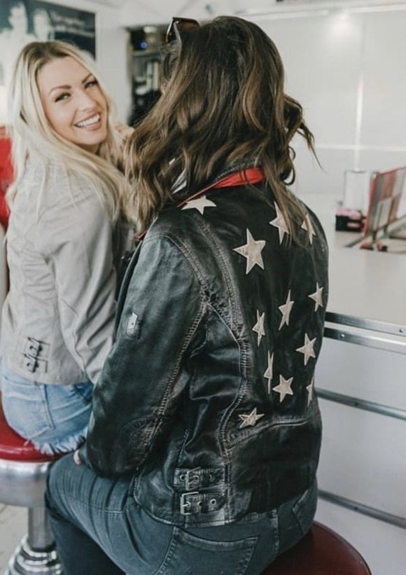 Star Spangled Leather Jacket