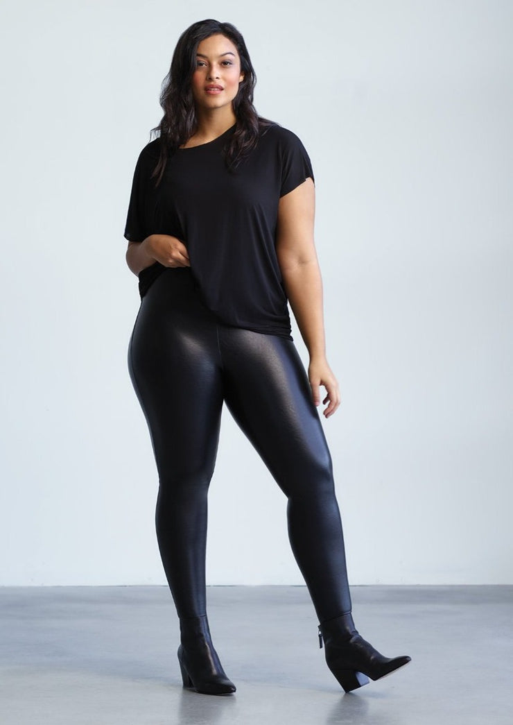 PLUS SIZE Commando Faux Leather Legging