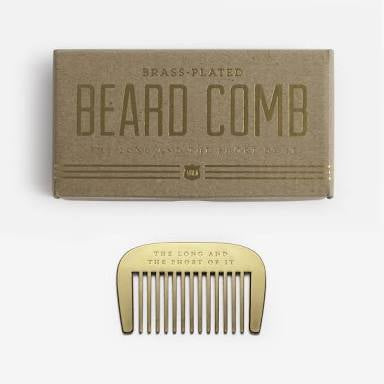 The Long and The Short of It Brass Beard Comb