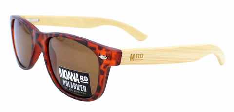 Kids Wooden Sunglasses - Tortoiseshell with Brown Lens