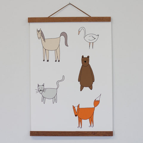 Art Print Hanger - A2 Dark Wood