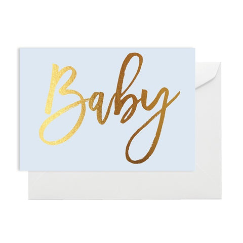 Baby Blue & Gold Card