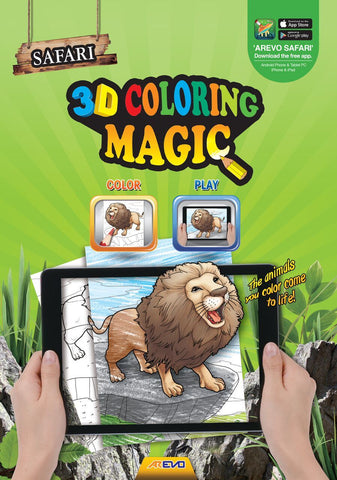 Evo Safari 3D Colouring Book