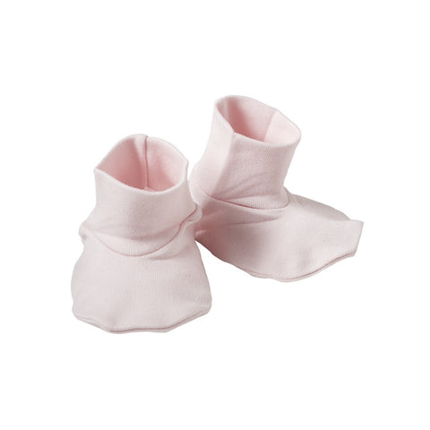 Organic Cotton Booties - Shell Pink