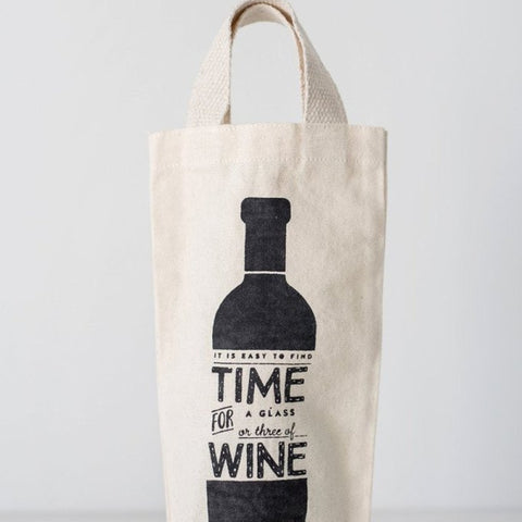 Reusable Wine Tote - Time for Wine