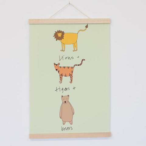 Art Print Hanger - A4 Light Wood