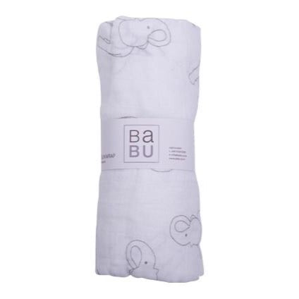 Organic Cotton Muslin Wrap - Elephant Grey