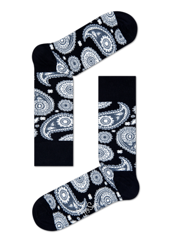 Socks - Paisley Black/White