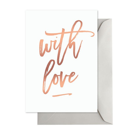 With Love White & Rose Gold
