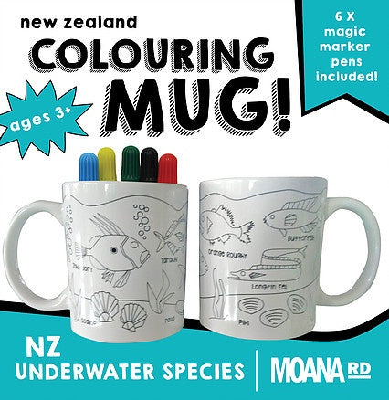 Colouring Mug - NZ Underwater Species