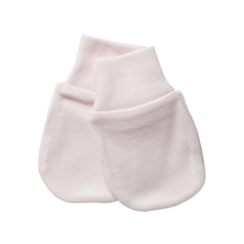 Organic Cotton Scratch Mittens - Shell Pink