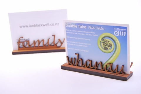 Double Take Photo Holder - Family/Whanau