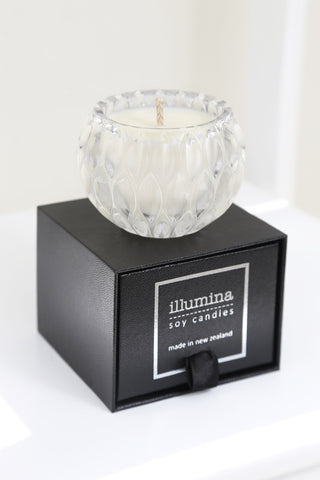 Mini Diamond Cut Crystal Candle - Bamboo & Lily