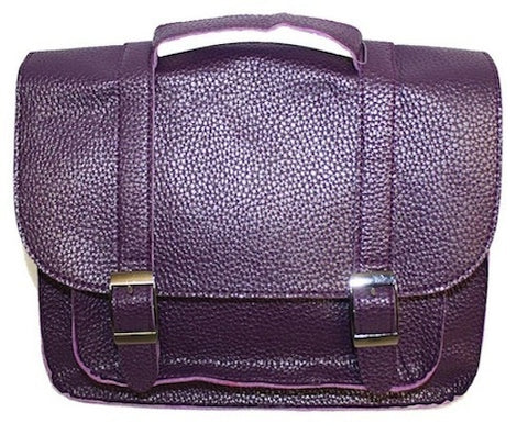 The Primary School Bag - Crushed Velvet Purple