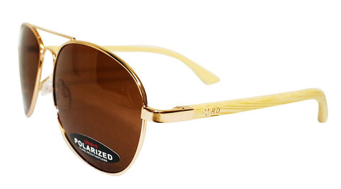 Wooden Sunglasses - Aviator Maverick Plain