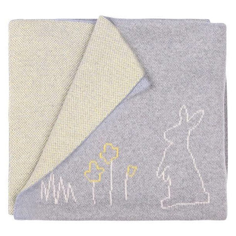 Bunny Blanket - Grey & Yellow