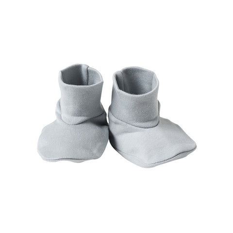 Organic Cotton Booties - Coastal Blue