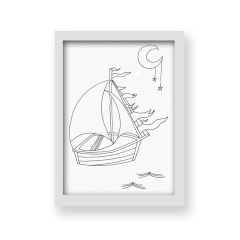 A4 Midnight Voyage Art Print