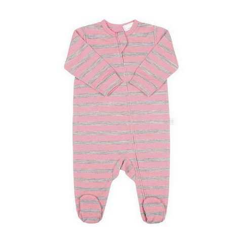 Merino All In One - Pink Stripe