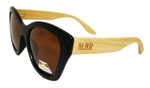 Wooden Sunglasses - Hepburn Black