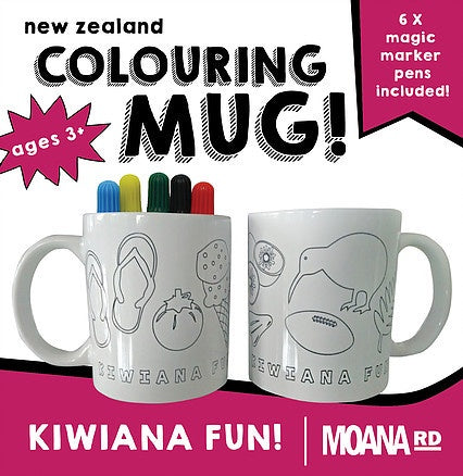Colouring Mug - Kiwiana Fun