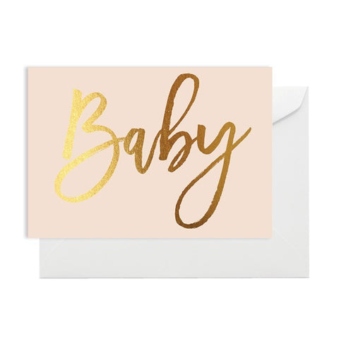 Baby Pink & Gold Card