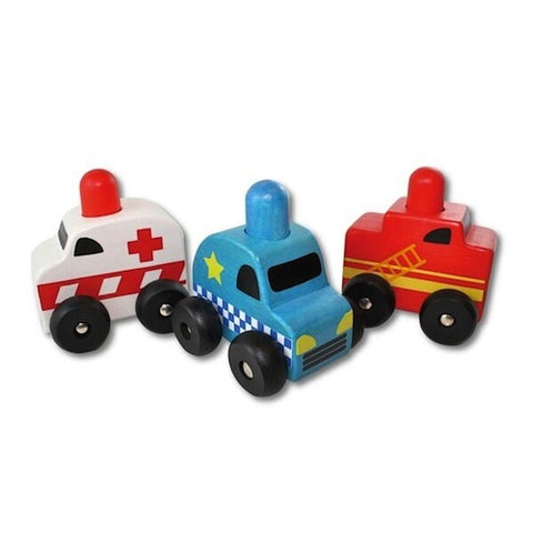 Squeaker Emergency Cars 3 piece Set