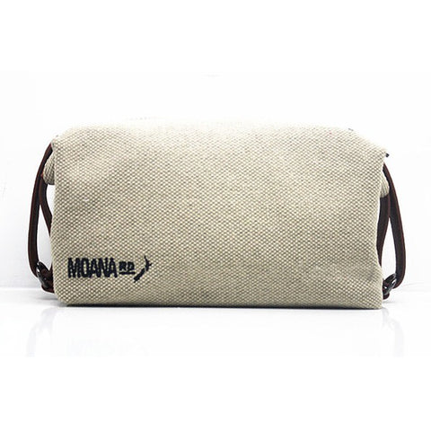 Canvas Toilet Bag - Tan