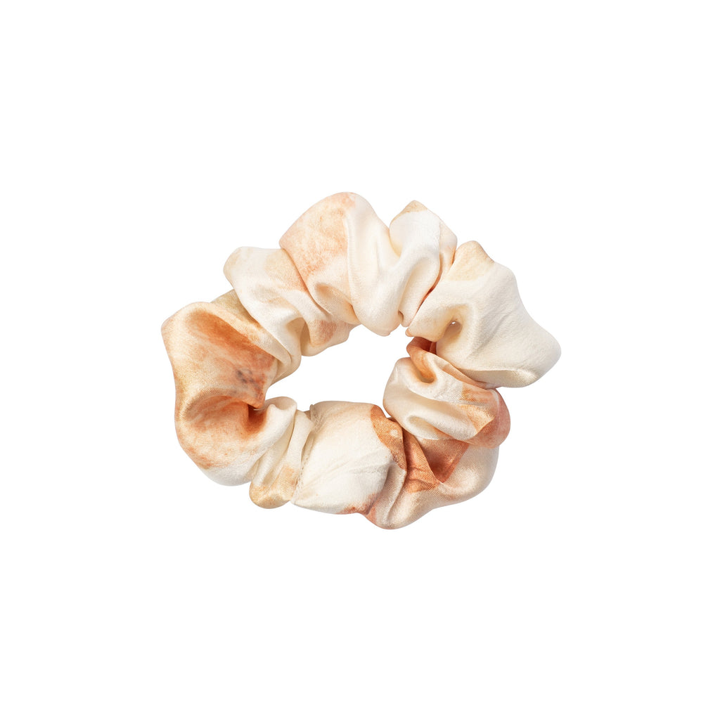 Silk Scrunchies in Coral