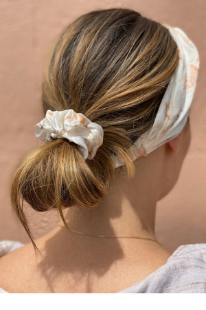 Silk Headband in Coral