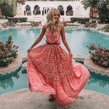 Daisy Drop Waist Maxi Dress