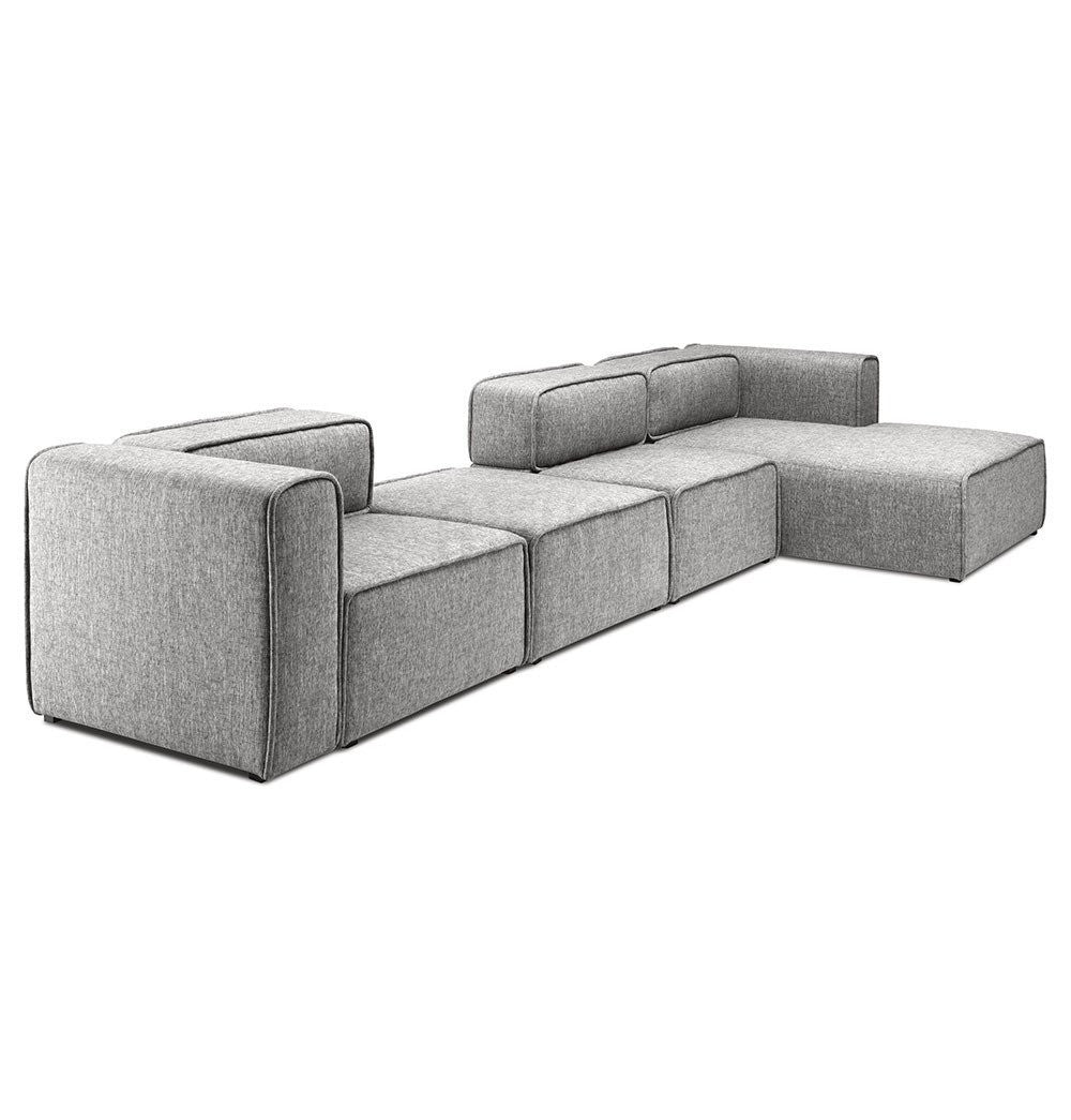 Business Casual: L-Shaped 3 Seater Right Sectional Chaise Modern Sofa - Björn